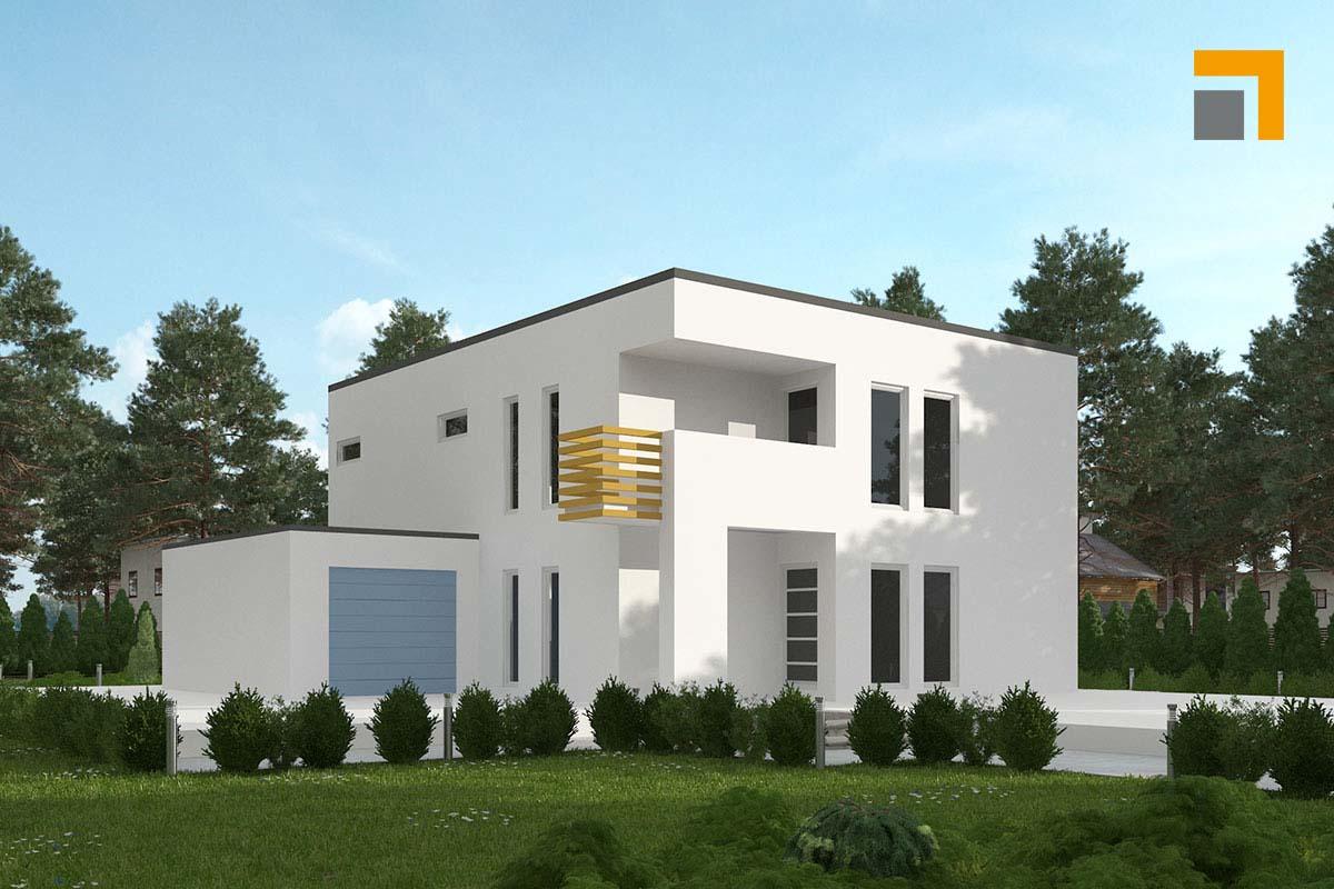 Grundriss bauhaus stadtvilla modern mit flachdach architektur - Bauhaus architektur hauser ...