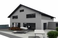 Terrassen Ansicht Haus in Altdorf - RKR-Systembau GmbH